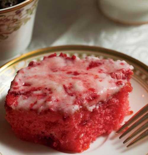 Spring Strawberry Sheet Cake