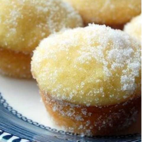 Recipe for Lemon Yogurt Sugar Mini Muffins - With their tangy flavor, moist texture, and crackly sugar coating, these muffins are perfect for a quick breakfast, or a fun after-school snack.