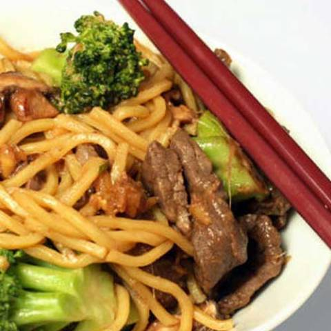 Recipe for Beef and Broccoli Lo Mein - No need to get take out when this is so fast and easy to make at home!