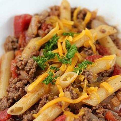 Recipe for Cheeseburger Pasta - If you need a quick recipe for dinner to get out of a jam try this Cheeseburger Pasta Recipe. This recipe has very little prep or cooking time-you can have dinner on the table in a half an hour.
