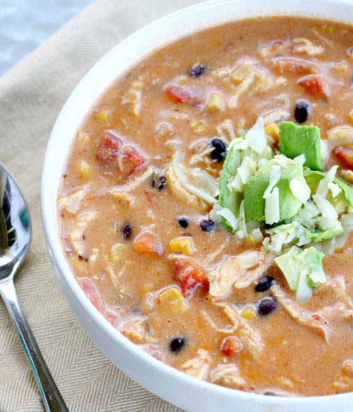 Crock Pot Chicken Enchilada Chowder