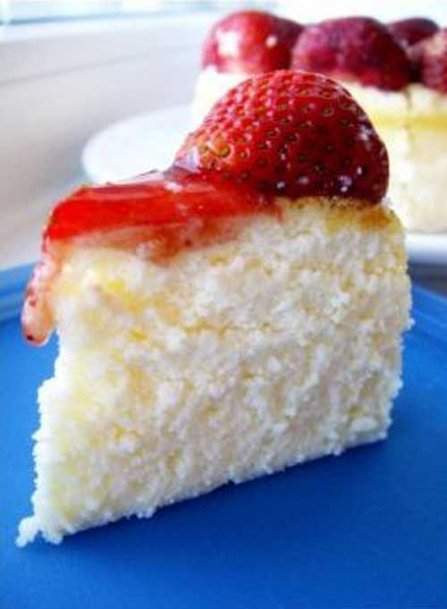 Recipe for Light Strawberry Cheesecake - Our family loves cheesecake, but I wanted to serve something healthier, so I came up with this lighter version