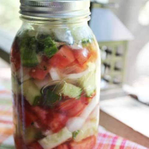 When it comes to classic summer salads, it's hard to beat this Marinated Cucumbers Onions and Tomatoes recipe...It just tastes like summer! This particular recipe is from Womack House, a long ago country kitchen in Fulshear, TX.