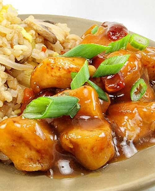 Orange Chicken with Fried Rice
