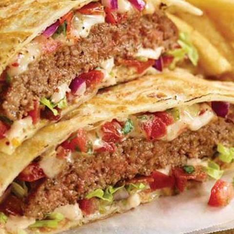 Cheeseburger Quesadillas are the perfect way to use up leftover ground beef. This easy dinner recipe goes from fridge to table in about 20 minutes!