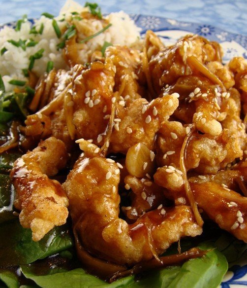 Recipe for Crispy Garlic Ginger Chicken - Better than take-out because it's fresh, hot and crunchy right from your kitchen.