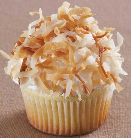 Lime Cupcakes with Coconut Fluff Icing