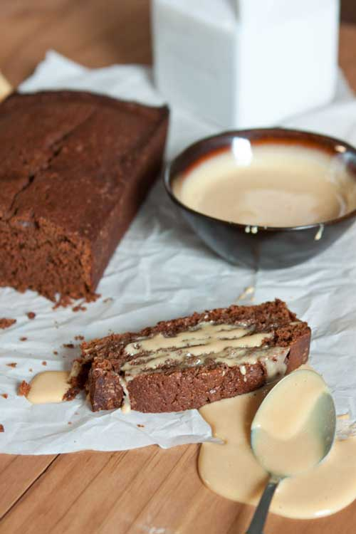 Recipe for Mexican Chocolate Pound Cake with Dulce De Leche - A little cinnamon and coffee are added to this chocolate pound cake to give it a nice kick. Since it's so moist and flavorful on its own, but then you add the dulce de leche...OMG!