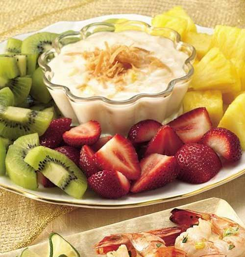 Fruit with Pina Colada Dip