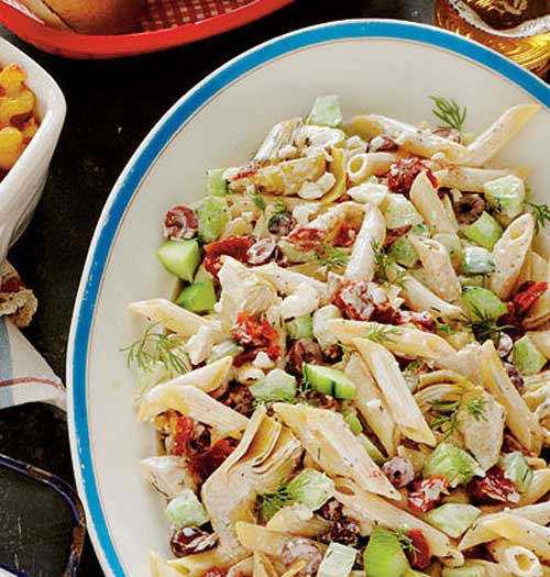 """This pasta salad is amazing! No wonder it won the Sidedish Smackdown and took home the prize for """"Best Pasta Salad"""""""