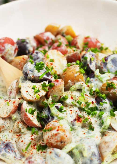 Yogurt Dill Potato Salad