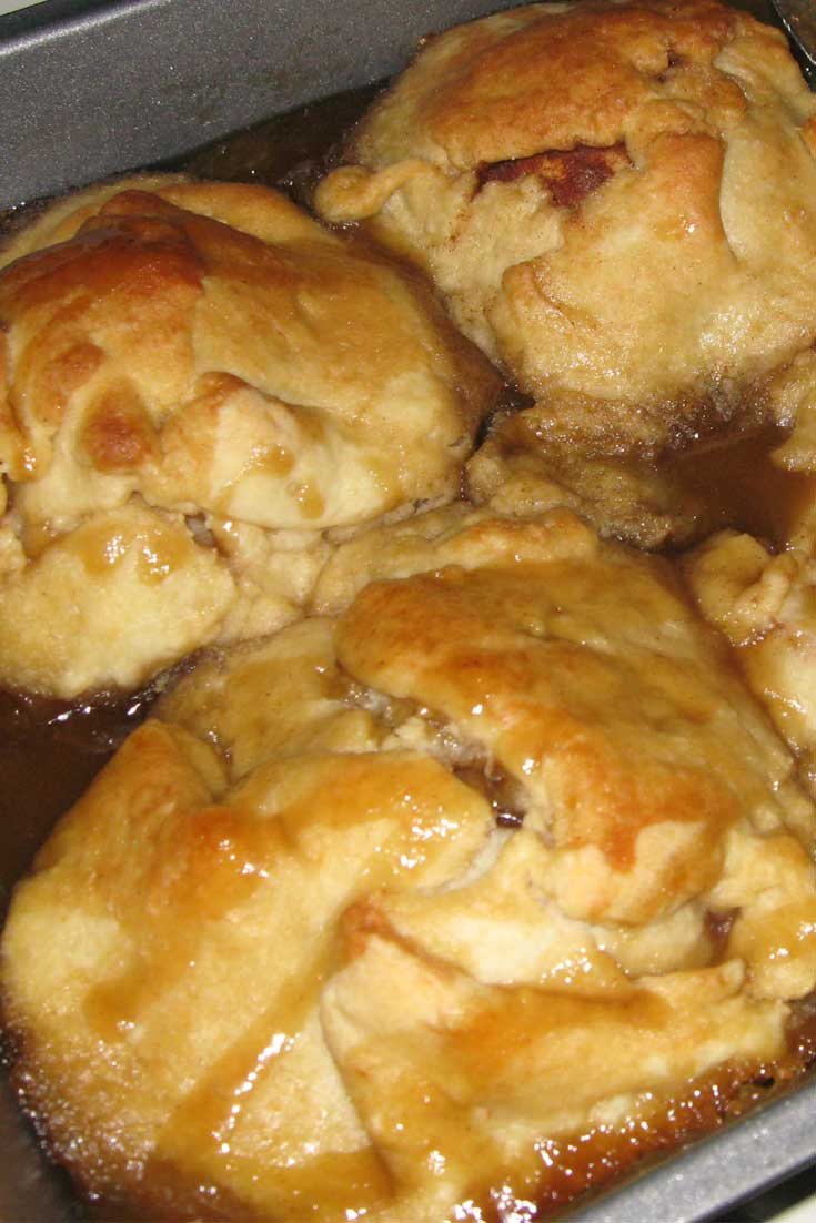 Dessert doesn't have to be fancy to be good, these Apple Dumplings are always tasty and super easy!! #dessertrecipe #appledessert #appledumplings