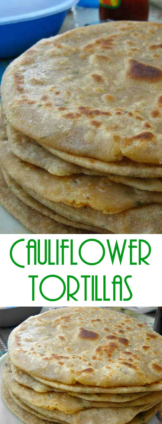 This is an excellent way to get your veggies in and have a nice soft and warm tortilla at the same time. These Cauliflower Tortillas are grain free, gluten free, and most importantly...guilt free! #glutenfree #healthyeating #healthyrecipe #gfrecipe