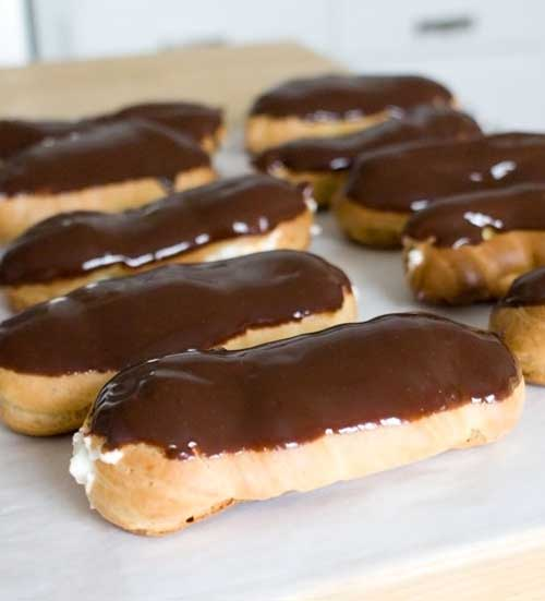 Chocolate Eclairs seem like such a special treat to me. When I was younger, I thought of them as exotic, and would treat them like a treasured pearl when I happened upon one.
