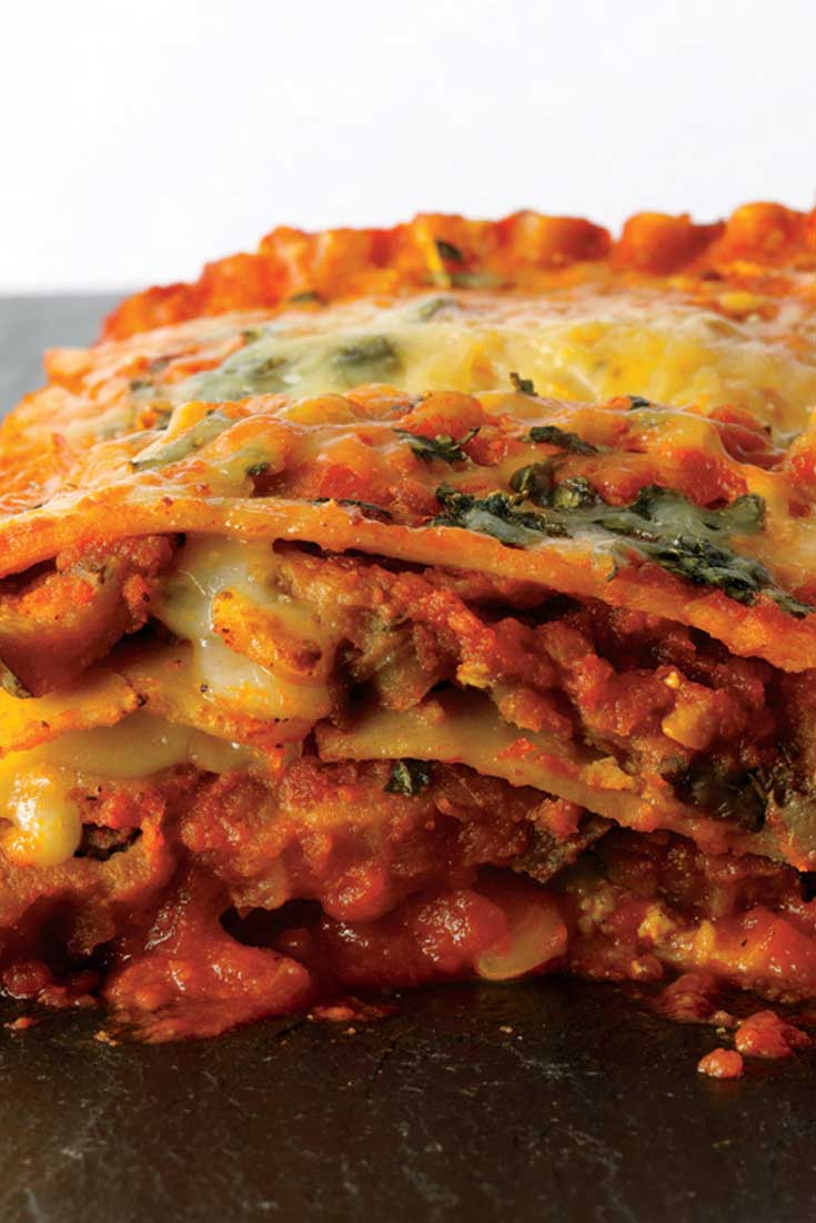 Two favorites, eggplant parmesan and lasagna, come together to make this Eggplant Parmesan Lasagna with layers and layers of wonderful flavor! #eggplant #parmesan #lasagna #dinnerideas