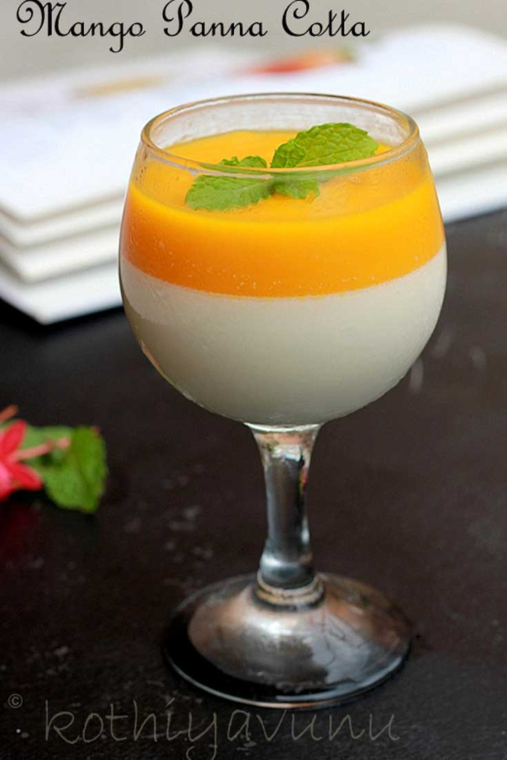 Here is an elegant dessert that will wow a crowd. This Mango Panna Cotta's looks and taste are beyond elegant, but the preparation could not be any easier. #mango #dessert #pannacotta #gelatin