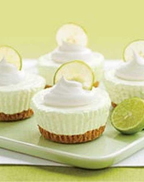 No Bake Key Lime Cream Cakes