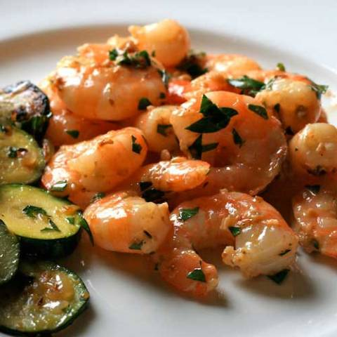 Recipe for Simple and Healthy Shrimp Scampi - You won't believe how easy this comes together - perfect for those busy weeknights!