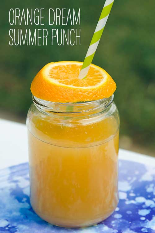 Recipe for Orange Dream Summer Punch - Every­one needs a great sum­mer punch recipe, and this incred­i­bly easy and yummy orange dream sum­mer punch fits the bill per­fectly. All you need are three ingre­di­ants and you're on your way to thirst-quenching bliss.