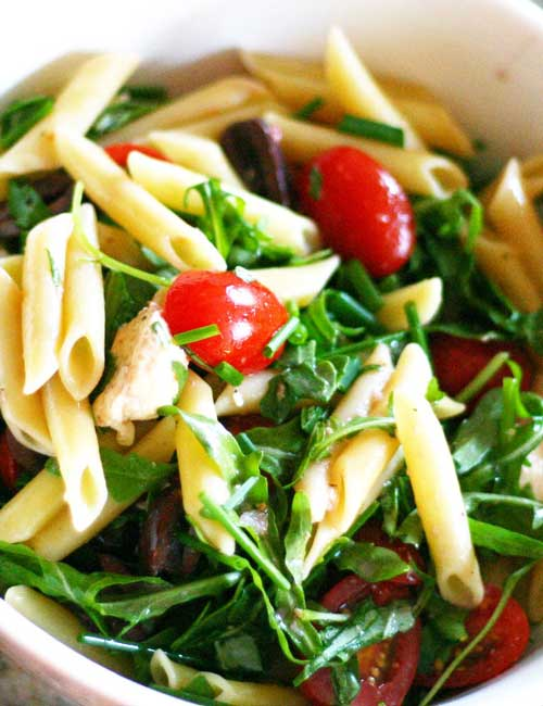 A simple, Summer Pasta Salad recipe that is perfect for all of your summer BBQ's and potlucks! It is a great recipe for using up all of the vegetables from your garden or farmers market haul.