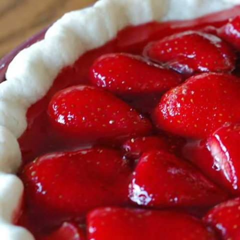 Recipe for Strawberry Pie - This pie is so good! The note I wrote on my stained recipe card is… The BEST!