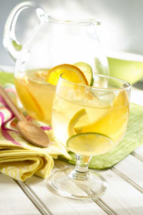 Recipe for White Citrus Sangria - This was one of the most amazing sangria recipes Ive ever tried. We made this for a birthday party, and everyone LOVED it.