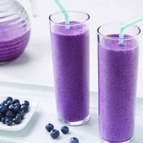 Recipe for Blueberry Pomegranate Smoothie - Bursting with flavor and a terrific choice for breakfast or a snack; this Blueberry-Pomegranate Smoothie is also a great way to get the antioxidants your body needs each day.