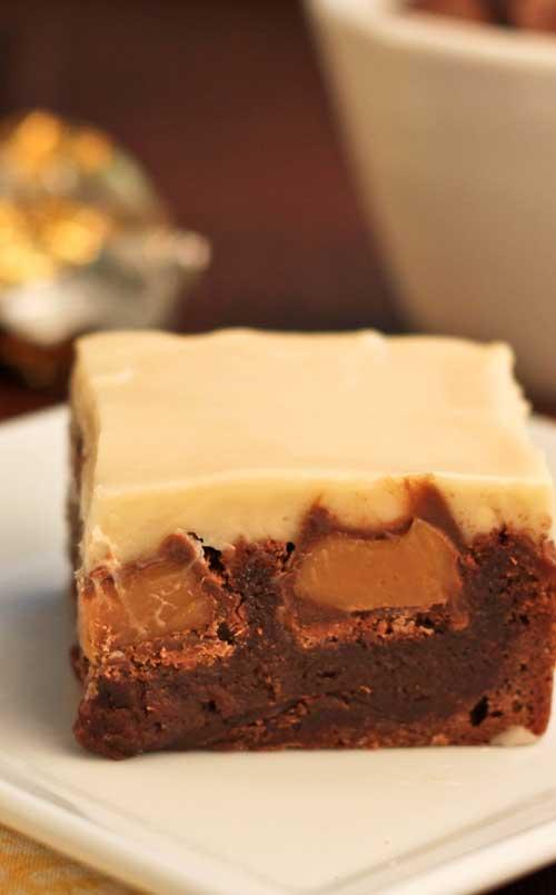 Double Caramel Brownies
