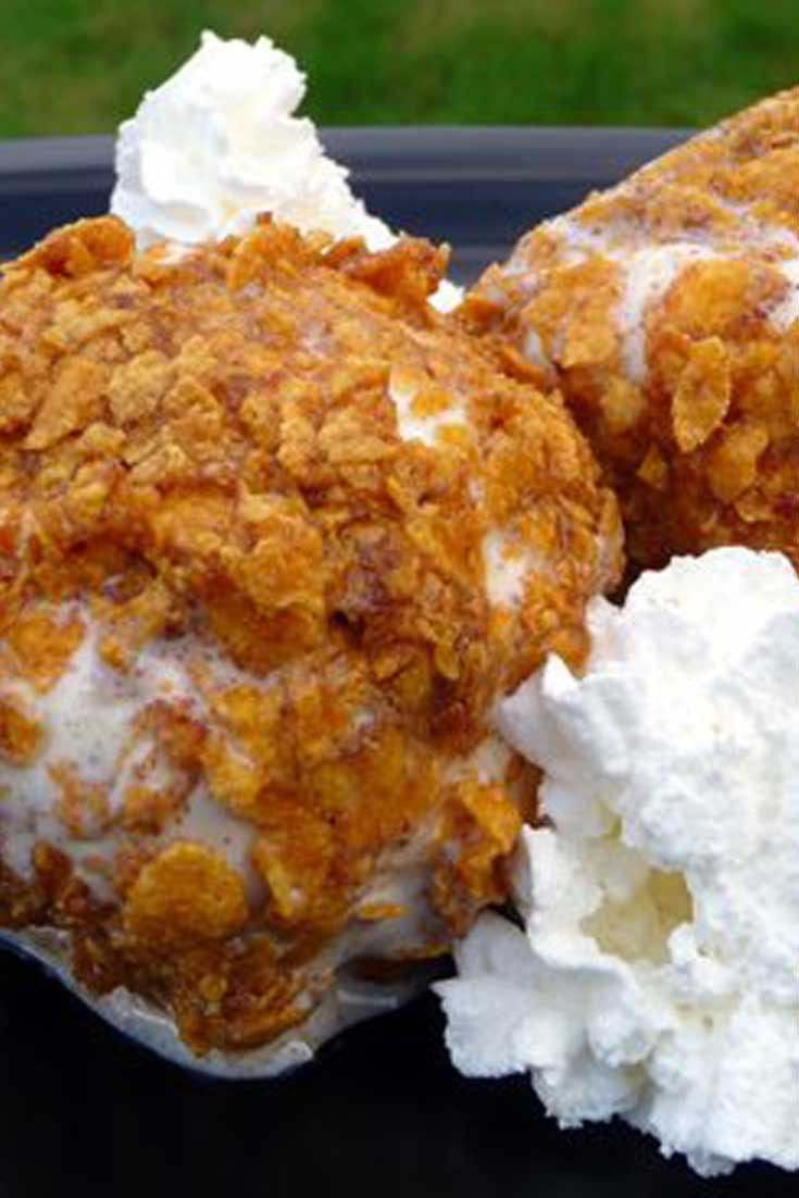 Oh how I have fond memories of eating these as a child. Now...I can have Deep Fried Ice Cream anytime I want, and maybe even share some with the kiddos. #icecream #dessert