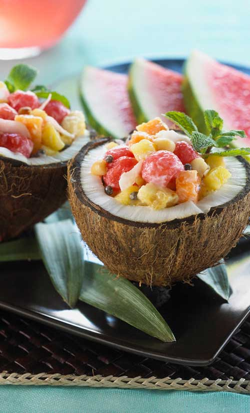 This cute salad will bring the luau spirit to your next gathering. It is sure to have all the