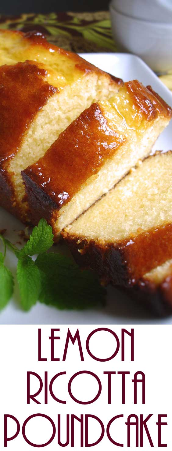 This Lemon Ricotta Pound Cake is incredibly moist and delicious. Somehow there is nothing better than lemony treats. It's also a cinch to throw together. #springbaking #lemoncake #cakerecipe