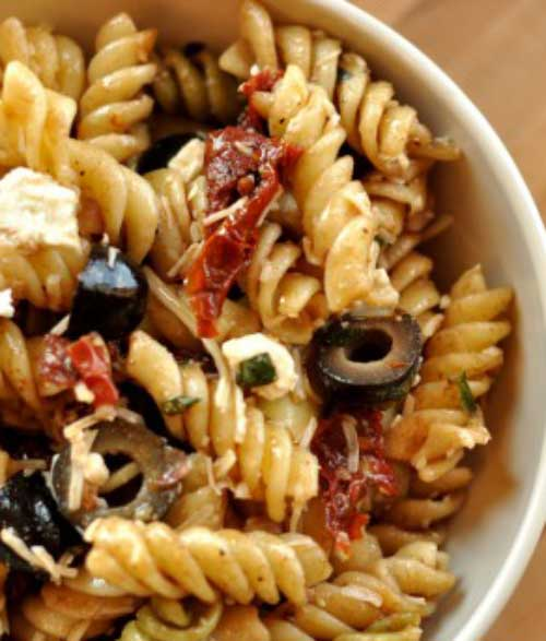 This colorful pasta salad recipe comes together in minutes and is sure to steal the show at any picnic or dinner table.