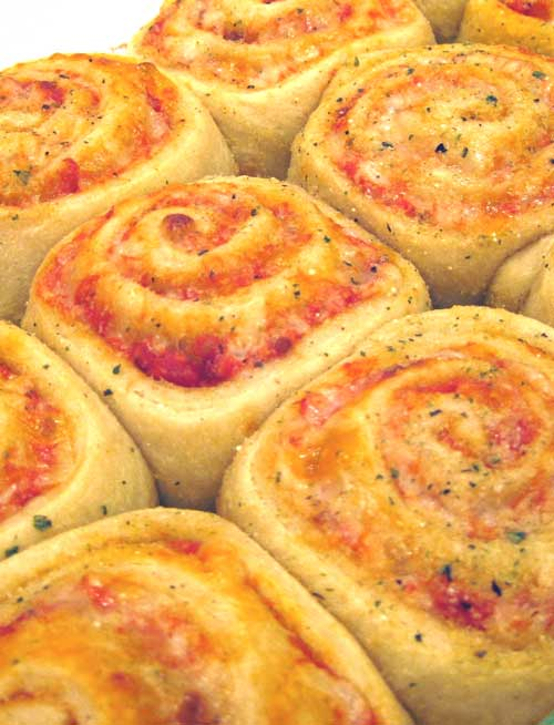 These pizza rolls are so cute, and not hard to make. Plus it's pizza...so EVERYONE will love them!