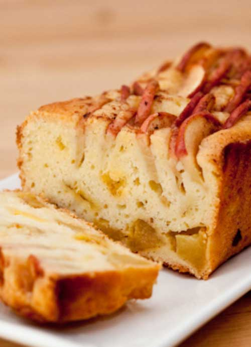 I love this cake. It's soft, moist, and almost pudding-like. Plus it is loaded with tons of apple flavor. YUM!