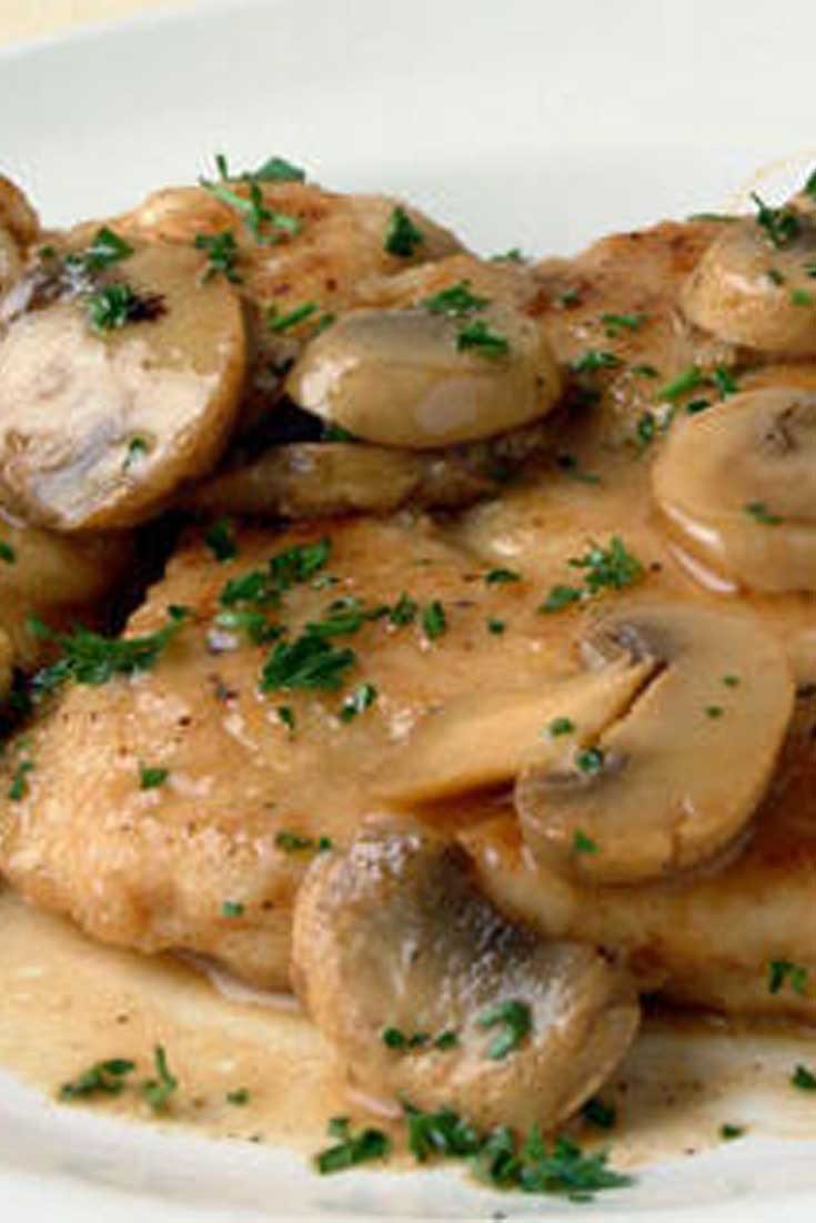 What a quick and delicious meal this Easy Chicken Marsala makes, definitely going to be adding this to my dinner rotation! #chicken #dinnerideas #easyrecipe
