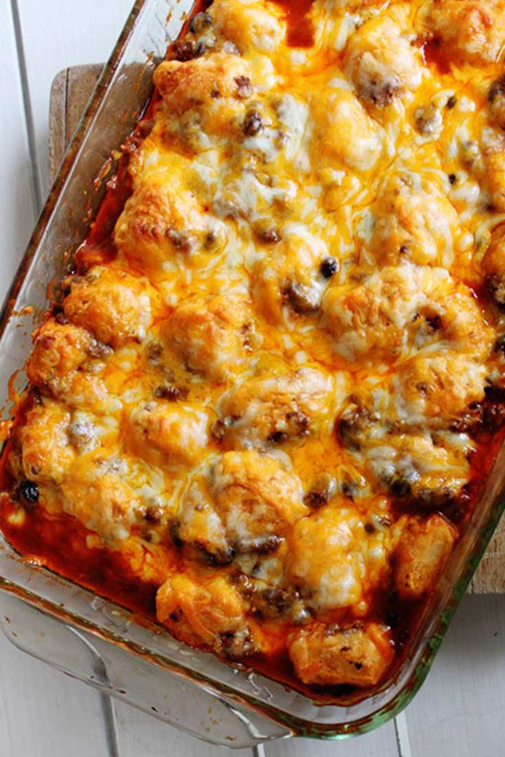 This MexicanEnchilada Bubble Bake casserole is full of flavor and comes together quickly for an easy and delicious weeknight dinner.
