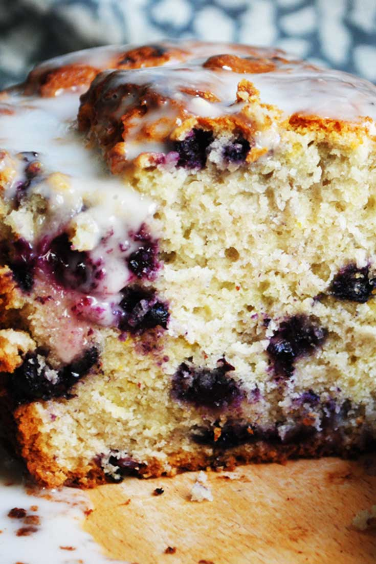 This Glazed Blueberry Lemon Bread is secretly a lot of blueberry muffins masquerading as a loaf of bread. #blueberry #lemon #bread #baking
