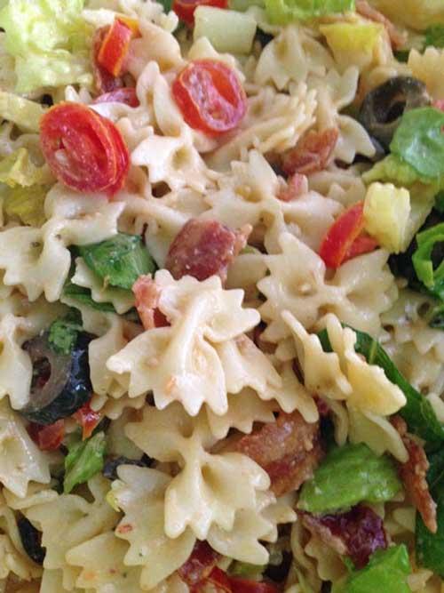 Caesar BLT Pasta Salad