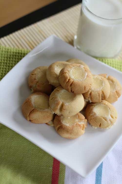Cheesecake Thumbprint Cookies