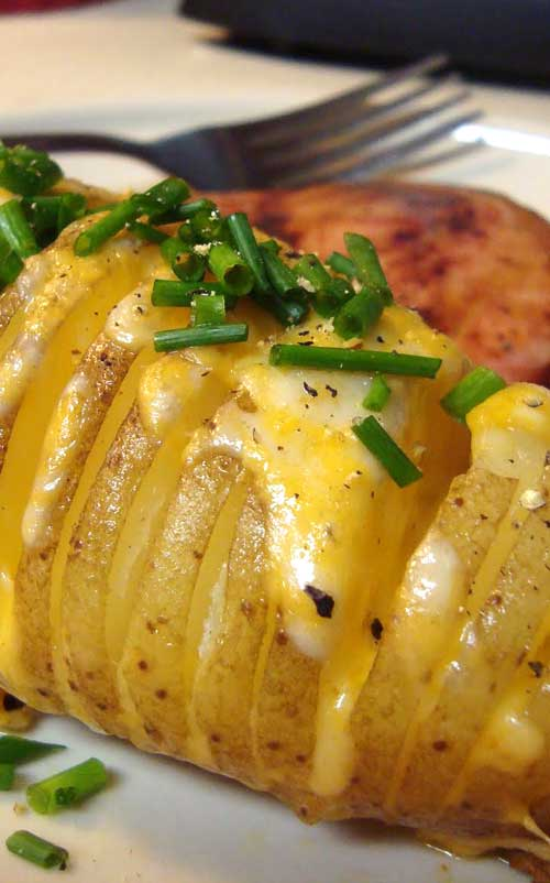 Cheesy Fan Potatoes