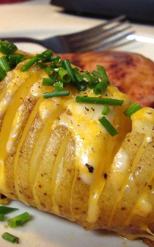 Cheesy Fan Potatoes
