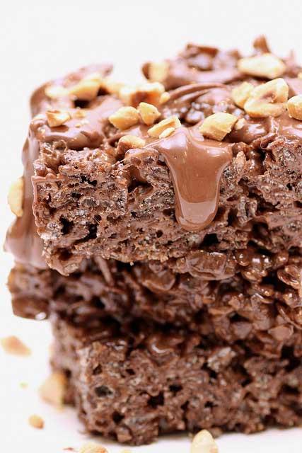 Nutella Marshmallow Cereal Treats