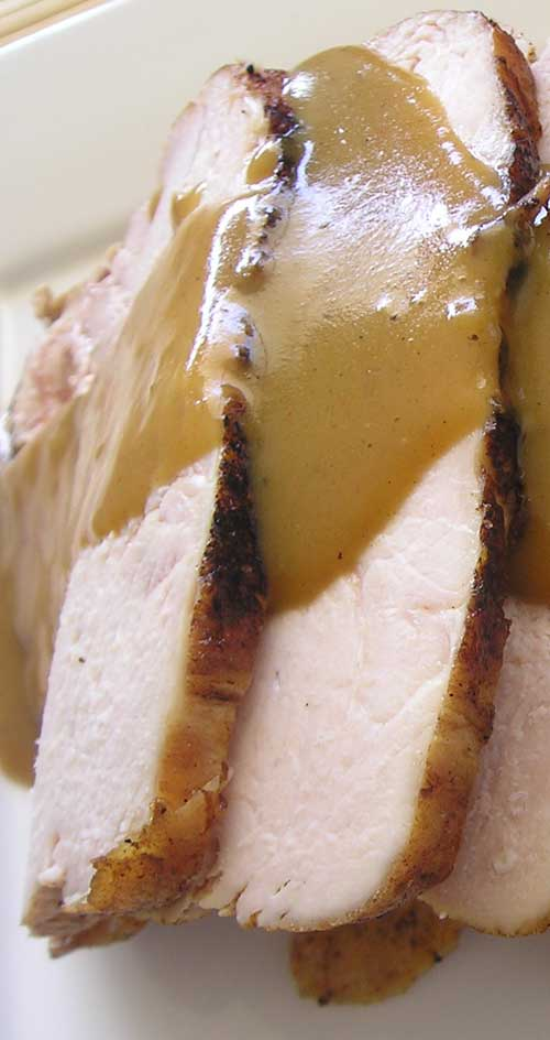 Have you ever cooked a whole turkey breast in the crockpot? It was super tender without being dried out and it makes enough broth to make a wonderful gravy too!