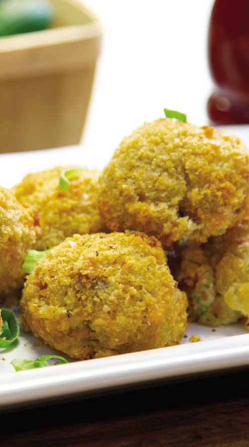 Loaded Mashed Potato Poppers