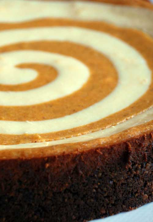 This is the ultimate pumpkin cheesecake. It has a unique gingersnap crust and rich, luscious swirls of cheesecake and pumpkin. If you want something extra special you have to try this recipe.