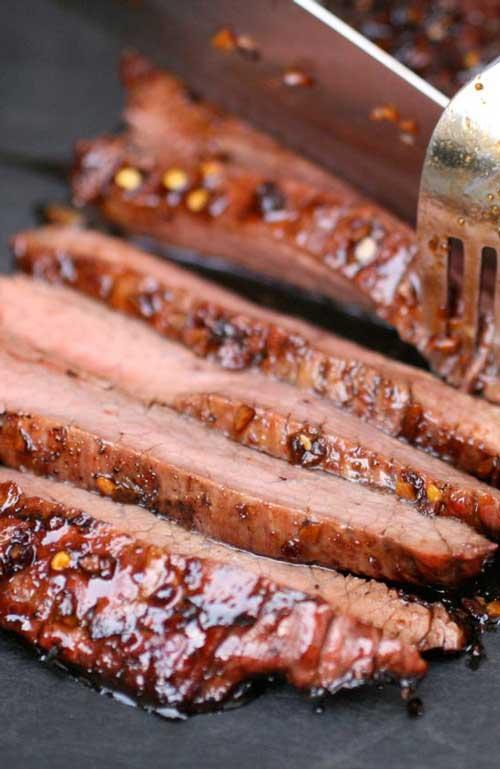 Soy-Glazed Flank Steak