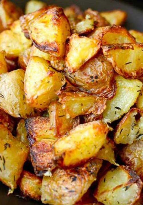 These Ultra-Crispy Roast Potatoes are the ultimate side dish and perfect with any meal!
