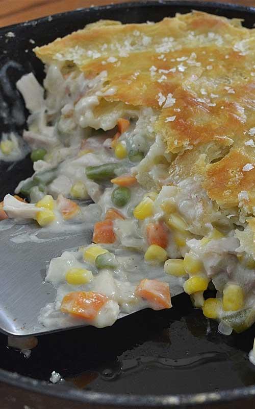Leftover Turkey Cast Iron Skillet Pot Pie