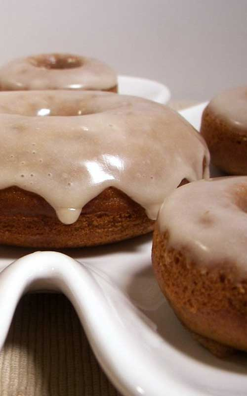 Apple Cider Donuts with Maple Glaze