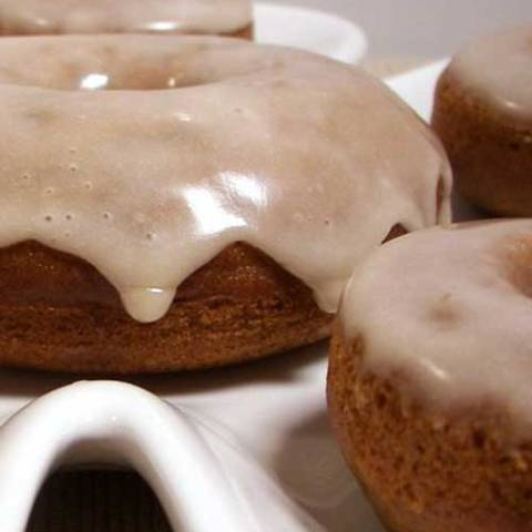 Recipe for Apple Cider Donuts with Maple Glaze - These Baked Apple Donuts with Maple Glaze are seriously the best baked donuts ever! Moist, apple-spiced flavor dipped in the tastiest maple glaze known to man.
